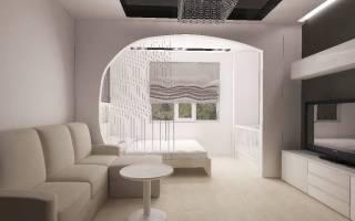 Гостиная спальня дизайн