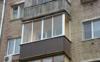 Застеклить балкон в хрущевке своими руками