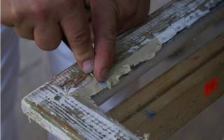 Замазка для деревянных окон