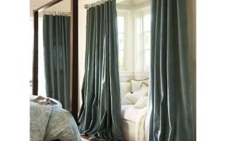 Какой длины должны быть шторы в спальне?