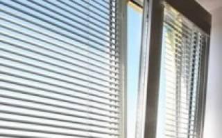 Крепление горизонтальных жалюзи на пластиковые окна