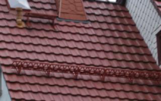 Устройство крыши из металлочерепицы инструкция