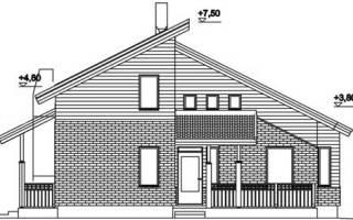 Двухскатная крыша с разными скатами асимметричная