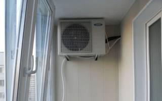 Можно ли ставить кондиционер на балконе