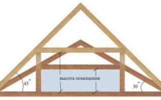 Как посчитать угол наклона крыши