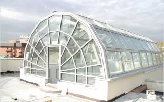 Зимний сад на крыше многоквартирного дома