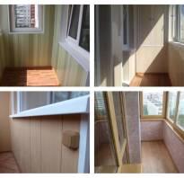 Обшивка балкона внутри пластиковыми панелями