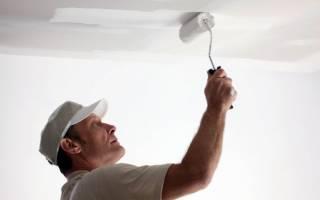 Можно ли красить потолок на побелку?