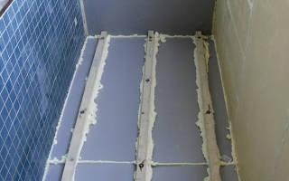 Утепление пола на балконе под плитку