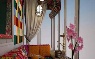 Дизайн оконного проема на балкон