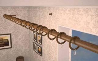 Правила установки карнизов для штор