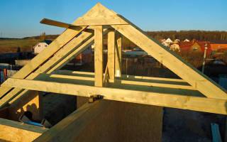Как правильно поставить стропила на двухскатную крышу