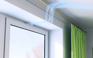 Приточный воздушный клапан на пластиковые окна