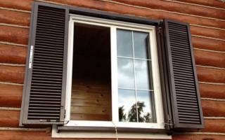 Внутренние ставни на окна металлические