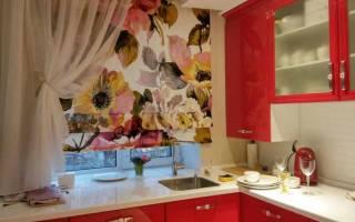 Кухонные занавески и оформление окон кухни