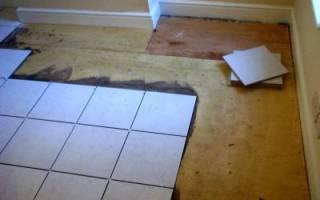 Можно ли уложить плитку на деревянный пол?
