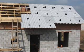 Как правильно уложить шифер на крышу