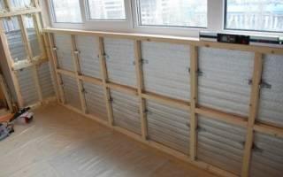 Обрешетка потолка на балконе под панели