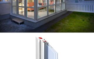 Откатные окна для веранды