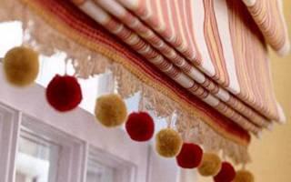 Как снять римские шторы с окна