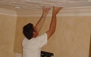 Можно ли приклеить потолочную плитку на побелку?