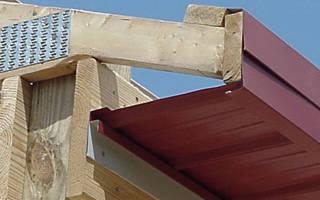Подшивка свесов крыши профлистом