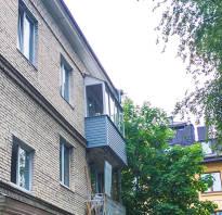 Крыша над балконом последнего этажа