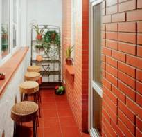 Как облагородить кирпичную кладку на балконе