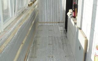 Утепление балкона пеноплексом и пенофолом
