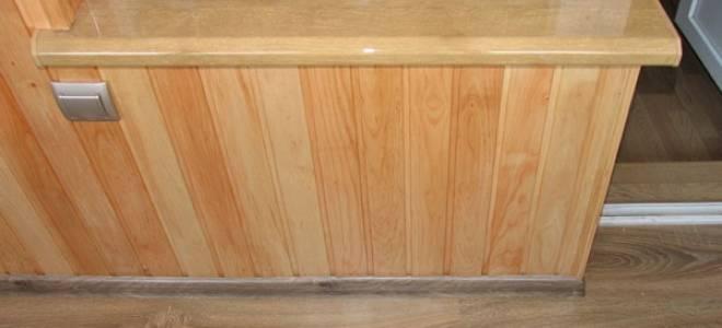 Крепление подоконника к пластиковому окну на лоджии