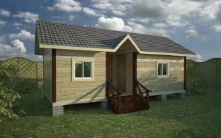 Летний душ и туалет под одной крышей