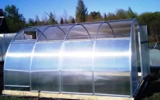 Парник из поликарбоната с открывающейся крышей