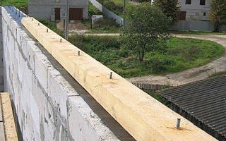 Мауэрлат для двускатной крыши