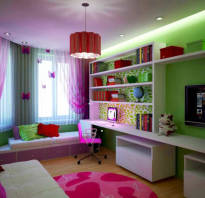 Зонирование спальни и детской в одной комнате