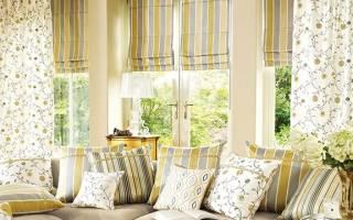 Как снять римские шторы для стирки?