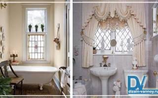 Имитация окна в ванной