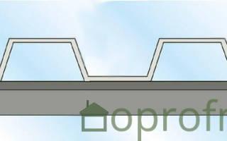 В какую волну крепить профнастил на крыше