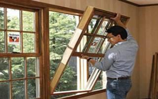 Установка деревянных окон в кирпичном доме
